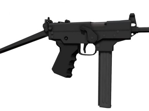 Low-Poly PP-91 Kedr