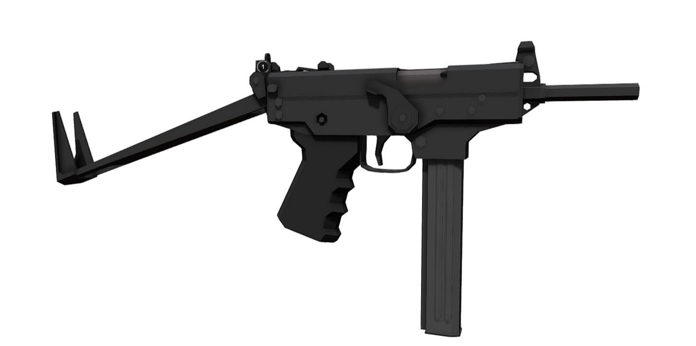 Low-Poly PP-91 Kedr