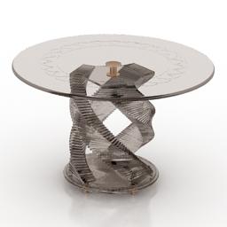 Table glass Tonelli Design 3d model