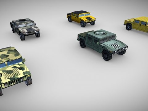 1192 - Hummer H1 Low Poly