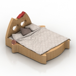 Bed ARCHPOLE Cat 3d model