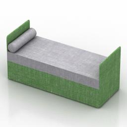 Bed David Oliver Day 3d model