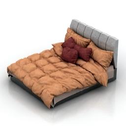 Bed Florence Laguna 3d model