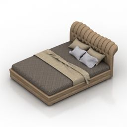 Bed Imperia 3d model