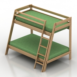 Bed bunk 3d model