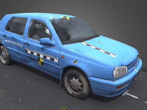 Blue VW Golf Before Crash