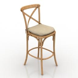 Chair bar Restoration Hardware Madeleine 3d model