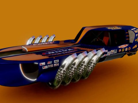 Drag racing Dodge Charger hover (Concept)