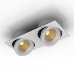 Lamp DL18412 02TSQ White 3d model
