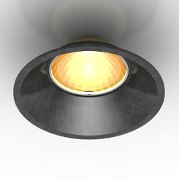 Lamp DL18412 11WW-R Black 3d model