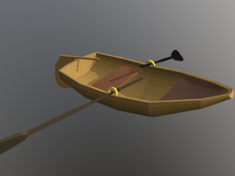 Low-poly Row Boat