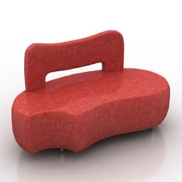 Sofa Dogbone Formdecor 3d model