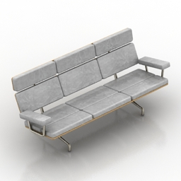 Sofa Eames herman miller 3d model