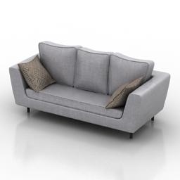 Sofa white 3d model