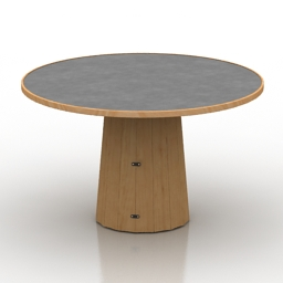 Table Moooi Container Table Bodhi Linoak Top 3d model