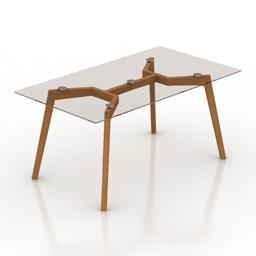 Table Ton Similda glass 3d model