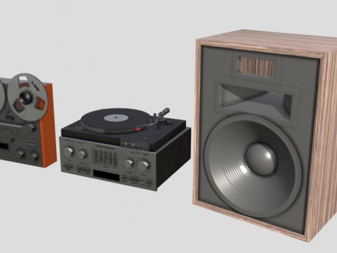 80s HiFi Stereo Set