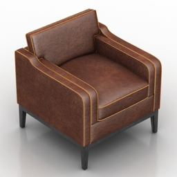 Armchair Irvine Dantone home 3d model
