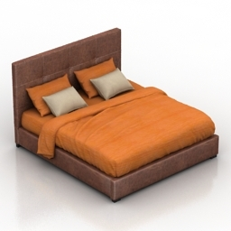 Bed Bedford Dantone home 3d model