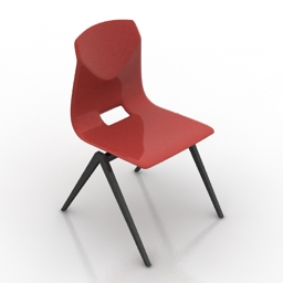 Chair red 3d model