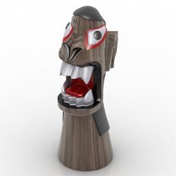 Figurine carranca 3d model