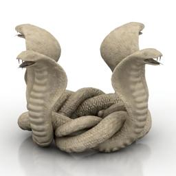 Figurine cobra 3d model
