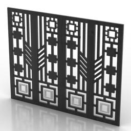 Frame decor panel 3d model