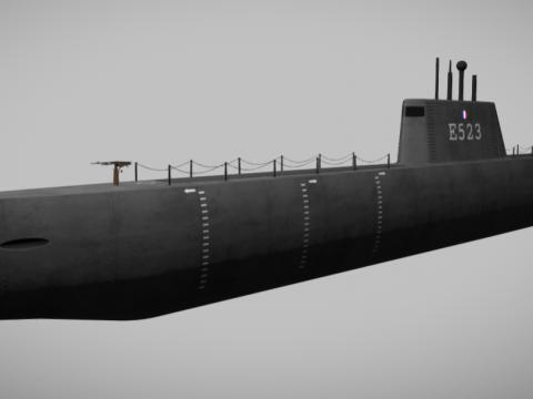 French World War 2 Submarine