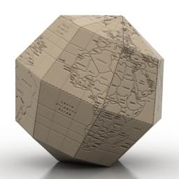 Globe paper 3d model