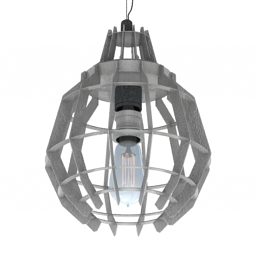 Luster Cage Pendant Bras 3d model
