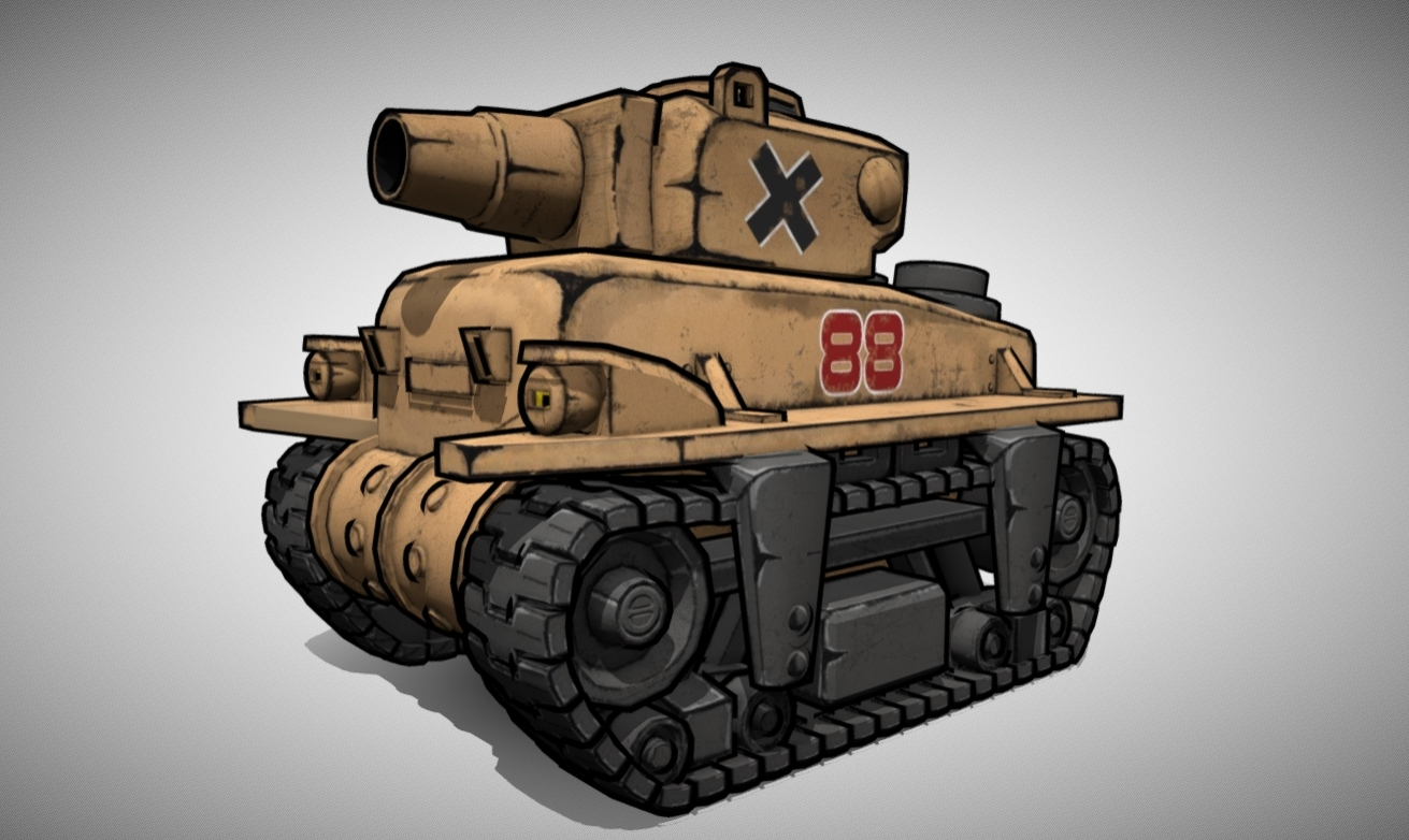 Metal Slug - Rebel Tank - Comic Style