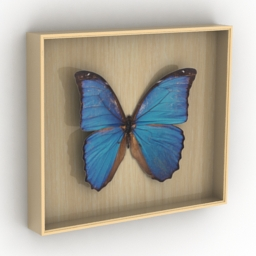 Picture butterfly 3d model