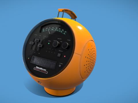 """Prinzsound SM8 - Weltron 2001 """"Spaceball"""" Radio"""
