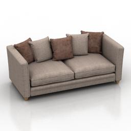 Sofa Burton Dantone home 3d model
