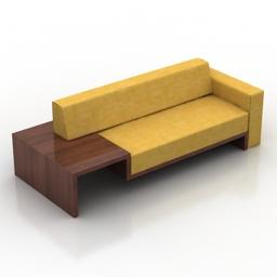 Sofa Frederik Roije 3d model