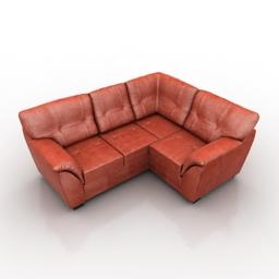 Sofa IKEA BJORBO 3d model