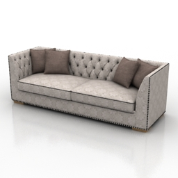 Sofa Marseille Dantone home 3d model free