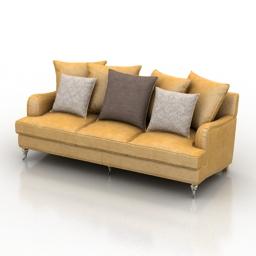 Sofa Montpellier Dantone home 3d model