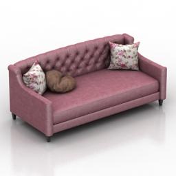Sofa Windsor Dantone home 3d model