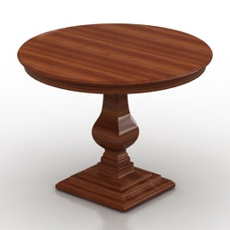 Table round Dantone home 3d model