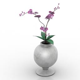 Vase flower 3d model