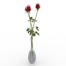 Vase rose 3d model