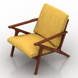 Armchair Cavett Chair Crate&Barrel 3d model