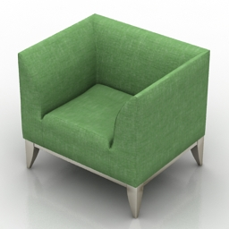 Armchair Cubo by Stouby 3d model
