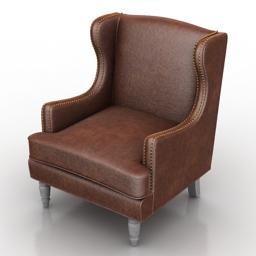 Armchair Evreux Dantone home 3d model