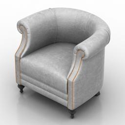 Armchair Marlow Dantone home 3d model