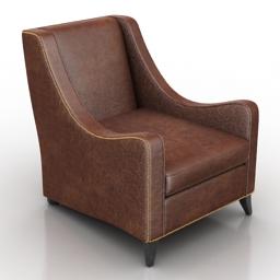 Armchair Straud Dantone home 3d model