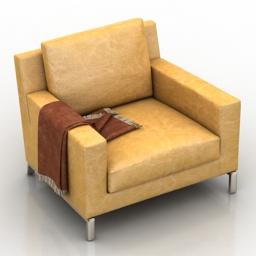 Armchair by Molteni & C 3d model