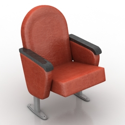 Armchair cinema 3d model