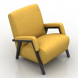 Armchair fabric 3d model